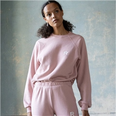 Ragdoll Cotton Blend Oversized Sweatshirt - Rose