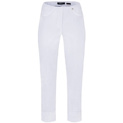 Robell 'Bella' 7/8th Pull-On Trousers - White