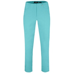Robell 'Bella' 7/8th Pull-On Trousers - Pool Blue
