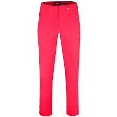 Robell 'Bella' 7/8th Pull-On Trousers - Azalea Pink
