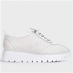 Wonders Perforated Leather Trainers - Off White