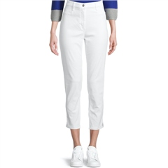 Betty Barclay 7/8th Slim Fit Cotton Trousers - Bright White