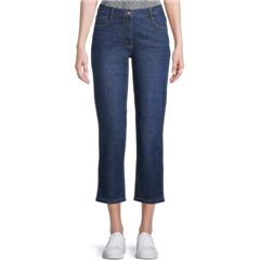 Betty Barclay Slim Fit 5-Pocket Cropped Jeans - Blue Denim