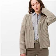 Brax 'Anique' Edge-To-Edge Knitted Cardigan - Khaki