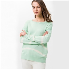 Brax 'Lisa' Tie-Dye Stripe Jumper - Pastel Green