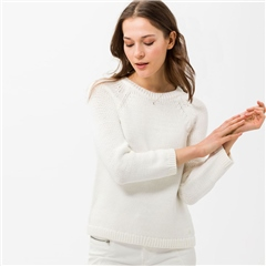 Brax 'Liz' Raglan Sleeve Knitted Jumper - Off White