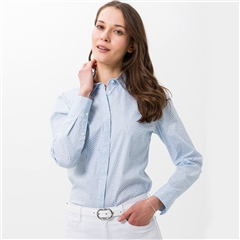 Brax 'Victoria' Ditsy Floral Cotton Shirt - Cool Blue