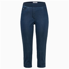 Brax 'Pamona' Pull-On Capri Jeans - Stoned Denim