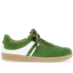 Gabor 'Best Fitting' Stripe Suede Trainers - Clover