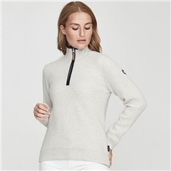 Holebrook 'Agnes' Wool Windproof Jumper - Light Grey Melange
