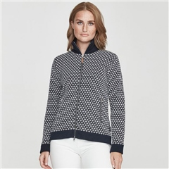 Holebrook 'Greta' 100% Cotton Pattern Windproof Jacket - Navy/Off White