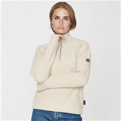 Holebrook 'Siv' Wool Windproof Jumper - Sand