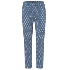 Olsen Geometric Print Cropped Trousers