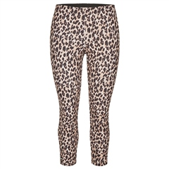 Rabe Leopard Print Cropped Trousers