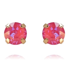 Caroline Svedbom Classic Swarovski Crystal Stud Earrings - Lotus Pink Delite