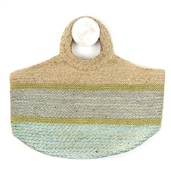 Peace Of Mind Stripe Jute Bag - Natural