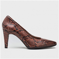 Wonders Snake Print Heeled Shoe