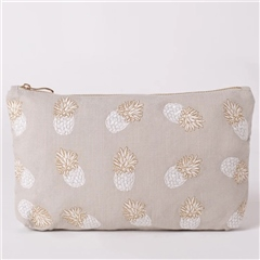 Elizabeth Scarlett Everyday Pouch - Pineapple Grey
