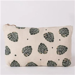 Elizabeth Scarlett Natural Everyday Pouch - Jungle Leaf