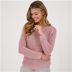 Monari Ribbon Knit Jumper - Rose