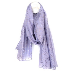 Peace Of Mind Peace Of Mind Metallic Spot Print Scarf - Lilac