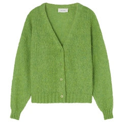 American Vintage 'Vogbay' Mohair Wool Blend Cardigan - Sauterelle Chine
