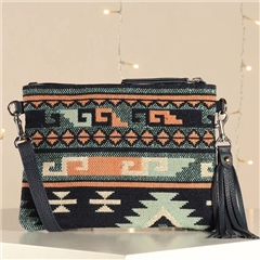 Hill & How 'Hetty' Crossbody Bag - Aztec