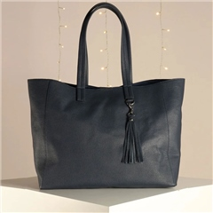 Hill & How 'Olivia' Leather Tote Bag - Navy