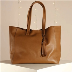 Hill & How 'Olivia' Leather Tote Bag - Tan