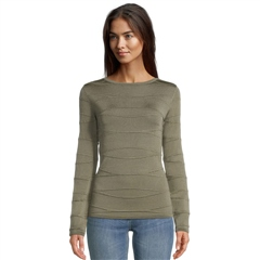 Betty Barclay Decorative Stitch Jumper - Dusty Olive