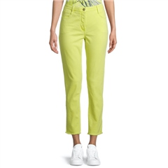 Betty Barclay Raw Hem Cropped Jeans - Neon Yellow