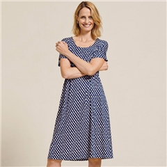 Two Danes 'Bliss' Bamboo/Organic Cotton Spot Print Dress - Mood Indigo