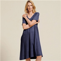 Two Danes 'Hedy' Hemp/Organic Cotton Stripe Dress - Mood Indigo