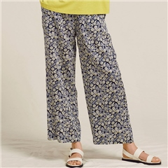 Two Danes 'Rafael' Modal/Cotton Floral Print Pull-On Trousers - Mood Indigo