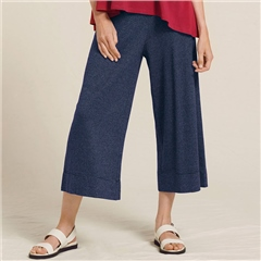 Two Danes 'Hanza' Hemp/Organic Cotton Striped Culottes - Mood Indigo