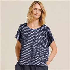 Two Danes 'Blaksley' Bamboo/Organic Cotton Spot Print T-Shirt - Mood Indigo