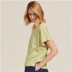 Two Danes 'Blaksley' Bamboo/Organic Cotton Spot Print T-Shirt - Lentil