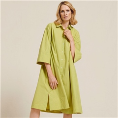 Two Danes 'Edina' 100% Cotton Oversized Shirtdress - Lentil