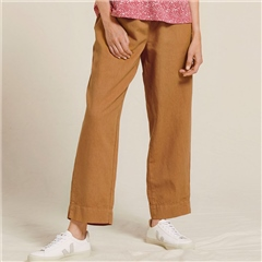 Two Danes 'Lalli' Linen/Cotton Blend Trousers - Brown Sugar