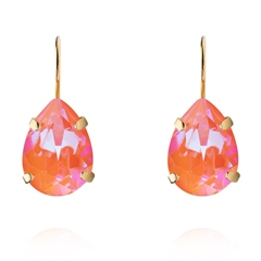 Caroline Svedbom 'Mini Drop' Swarovski Crystal Clasp Earrings - Orange Glow Delite
