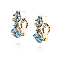Caroline Svedbom 'Stella' Swarovski Crystal Earrings - Blue Combo