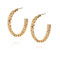Caroline Svedbom 'Kaia' Swarovski Crystal Hoop Earrings - Vintage Rose