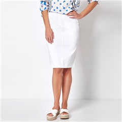 Toni 'My Darling' Pull On Skirt - White