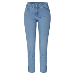 Toni 'Perfect Shape' Zip Detail 7/8th Jeans - Bleached Denim
