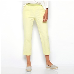 Toni 'Sue' 6/8th Pull On Jog Pants - Lemon Ice