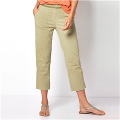 Toni 'Sue' 6/8th Pull On Jog Pants - Khaki