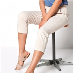 Toni 'Sue' 6/8th Pull On Jog Pants - Sand