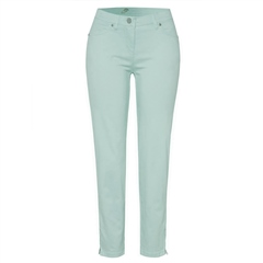 Toni 'Perfect Shape' Zip Detail 7/8th Jeans - Aqua