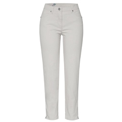 Toni 'Perfect Shape' Zip Detail 7/8th Jeans - Pearl Grey