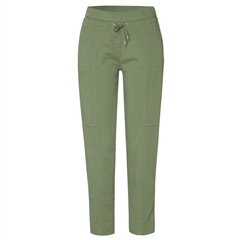 Toni 'Sue' Zip Pocket Pull On 7/8th Jog Pants - Light Khaki